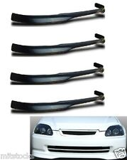 4 X 96 97 98 CIVIC 2 3 4 DOOR TYPE-R PU BLACK ADD-ON FRONT BUMPER LIP SPOILER