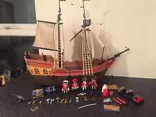 Large Playmobil Pirate Ship With Figures And Accessories