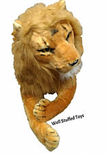 "Realistic Stuffed Plush Large Lion Soft Toy 130cm 51"" Lifelike Features"
