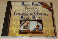 BEETHOVEN-PIANO CONCERTO 3 & 4-1ST ISSUE CD 1986-NO BARCODE-PERAHIA/HAITINK-MINT
