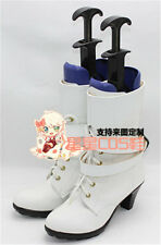 Macross Frontier Sheryl Nome White Girls Cosplay Shoes Boots X002