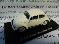 Voiture 1/43 IXO AUTO PLUS : VOLKSWAGEN Coccinelle beetle 2000