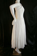 FANCY NY NEW YORK  WHITE TEA LENGTH SIZE 6  WEDDING GOWN DRESS WHITE EYELET LACE