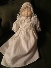 Antique Porcelain Baby Doll Infant Japan Christening Gown