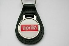 APRILIA BLACK LEATHER KEYRING, KEY CHAIN, KEY FOB