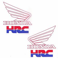 2PC. L&R HRC HONDA WING RACING TEAM DECALS STICKER PRINTED DIE-CUT MOTOR BIKE