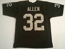 Oakland Raiders Marcus Allen UNSIGNED CUSTOM Black Jersey - 2XL