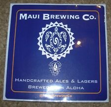 MAUI BREWING CO logo STICKER craft beer brewery Big Swell CoCoNut Porter Hawaii