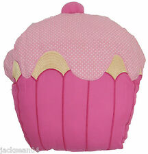"FILLED SUPERB PINK GOLD CUPCAKE CUPCAKES SHAPED THICK CUSHION 13""  - 33CM APPROX"