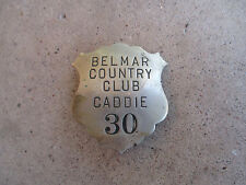 vintage Belmar Country Club Caddie ID Badge metal pin Rockford Illinois Golf