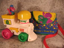 vintage BARNEY the dinosaur toy train Lyons group and Barney Baby Bop bag