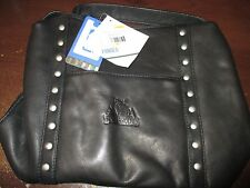 NBA Minnesota Timberwolves Black Leather Womens Mini Top Zip Handbag WW 7721
