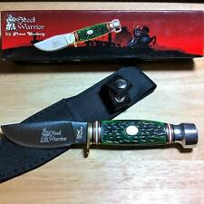 "Frost Steel Warrior Green Jigged Bone Buck Skinner 8"" Knife w/ Sheath FSW113JGJ"