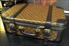 "LOUIS VUITTON 22"" Rare Custom Black Carry On Suitcase Duffle Mens Pilot Case Bag"