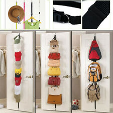 10 Hooks Over the Door Hanger Hat Bag handbag Clothes Rack Holder Organizer