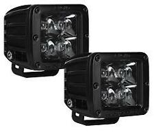 New Rigid Industries 20221BLK - Midnight Edition D-Series LED Spot Light (Pair)