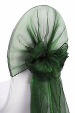 10/50/100/150 ORGANZA HOODS SASHES FOR FOR WEEDING CHAIR HOOD WRAPS BOW SASH