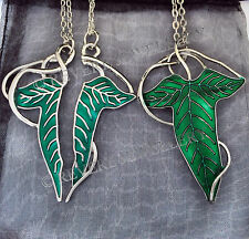 SPLIT Elven Leaf Pin Brooch Badge Necklace SET LOTR Lord of The Rings Cape
