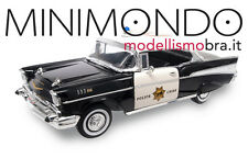 1957 CHEVROLET BEL AIR HIGHWAY PATROL POLICE 1/18 LUCKY DIECAST 92107 CHEVY
