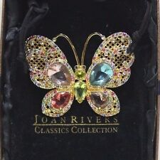 Joan Rivers Classics Collection Butterfly Rhinestone Brooch