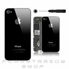 COVER CASE REAR GLASS FOR IPHONE 4S COLOUR BLACK BLACK HIGH QUALITY