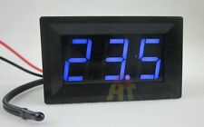 Blue 12V Digital Thermometer With Temp Probe -50~110C Temperature Detector LED