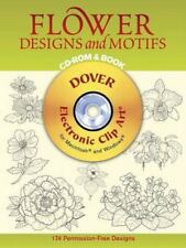 Flower Designs and Motifs CD-ROM & Book Dover Electronic Clip Art