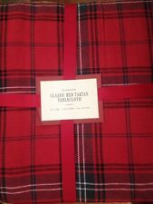 "Williams Sonoma Classic Red Tartan Tablecloth 70 x 90""  NWT"