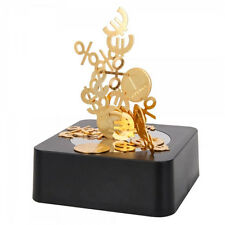 NEW Coin Money Signs Magnetic Desktop Sculpture Executive Office Desk Toys Gifts