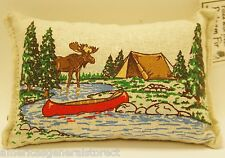"BALSAM FIR PILLOW 3.5""x5"" MOOSE canoe tent river pine sachet scented lodge style"