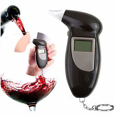 Digital LCD Breath Alcohol Breathalyzer Analyser Tester Test Detector Keychain