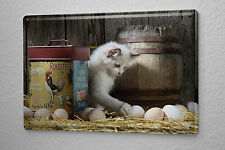 Tin Sign Cat Decoration Puppy hay barn eggs Metal Plate