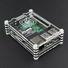 Raspberry Pi 3 B+ Model Transparent Sliced Acrylic Case Enclosure Box Black NEW