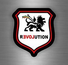 Sticker car decal rasta reggae JAH macbook lion of judah one love rastafarai r4