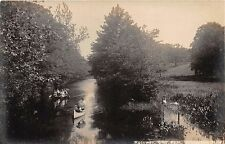 BRIDGETON NEW JERSEY THE RACEWAY PEOPLE IN CANOES REAL PHOTO POSTCARD c1910s