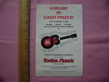 1976 Radio Shack CB Radio Songwriting Competition Rules and Entry Blank