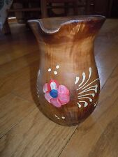 L@@K! ITALY Vintage Pottery Milk Pitcher Handcrafted Clay Art Deco Collectible