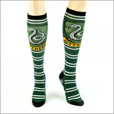 Harry Potter Slytherin Cosplay Costume Long Knee High Boot Striped Socks GREEN