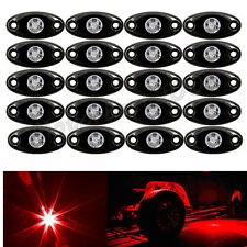 20x Red CREE LED Rock Lights ATV Off-Road 4x4 Truck UnderBody Trail Rig Boat SUV