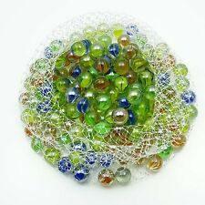 Multicolor Assortment Game Boulder Shooter Glass Swirl Classic Marbles 30 P 1516