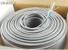 250ft CablesOnline CAT6 Shielded RJ45 STP Solid Copper Grey Ethernet Bulk Cable