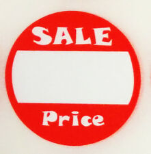 """500 Self-Adhesive Sale Price Round Retail Labels 1"""" Sticker Tags"""