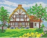 Thatched Cottage And Garden (1) Tapestry / Needlepoint Canvas