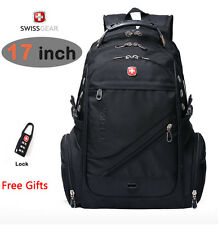 SwissGear nylon laptop backpack 17 inch notebook schoolbag Travel Hiking pack