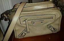 DANIER - Beige Tan Brown Leather Handbag Purse - Crossbody - Inspired