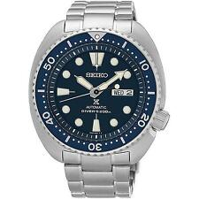 SEIKO MEN'S 44MM STEEL BRACELET & CASE AUTOMATIC BLUE DIAL WATCH SRP773K1