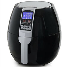 1500W Air Deep Fryer Electric Healthy Oil-Less 3.2QT Cooking Food 8-in-1 -Black