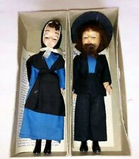 Vintage Amish Dolls Plastic w/ Open Close Eyes Male & Female Lancaster County PA