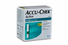 Accu-Chek Active 100 Test Strips, 2*50 Strips with 1 Code Chip New