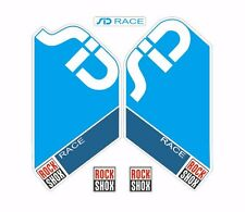 Rock Shox SID Race Mountain Bike Cycling Factory Style Decal Kit Sticker Blue